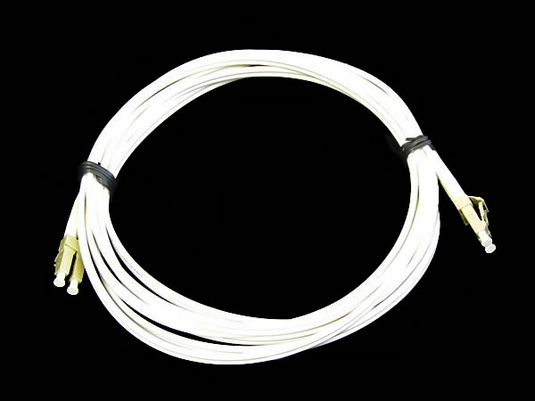 LC-LC Fiber Patch Cable, Multimode 50/125 OM2, 3 Meter, White