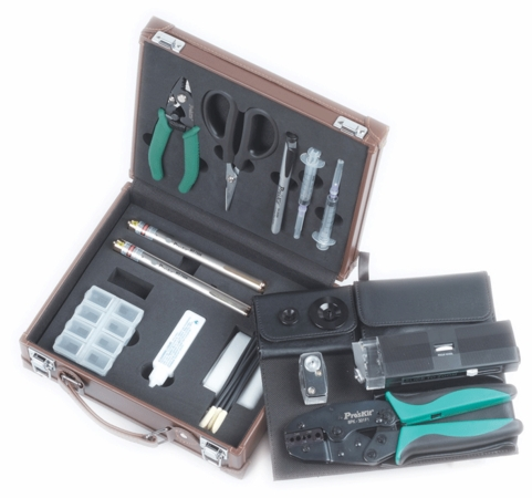Fiber Optic Termination Kit, W/1.25mm & 2.5mm Fault Locator