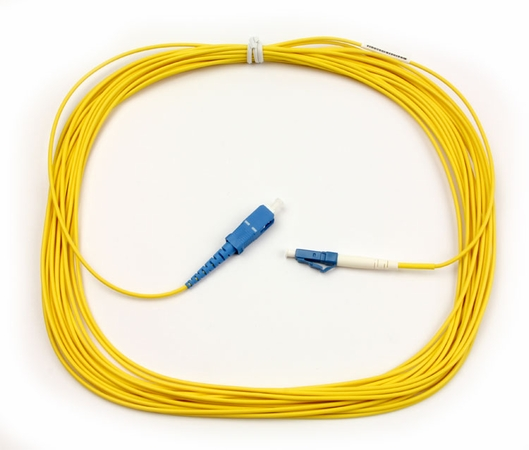 SC-LC Fiber Patch Cable, Singlemode 9/125 OS2, Simplex, 10 Meter