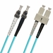 ST-SC Fiber Patch Cable, Multimode 50/125 10 Gig OM3, PC, Duplex