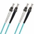 ST-ST Fiber Patch Cable, PC, Multimode 50/125 10 Gig OM3, Duplex
