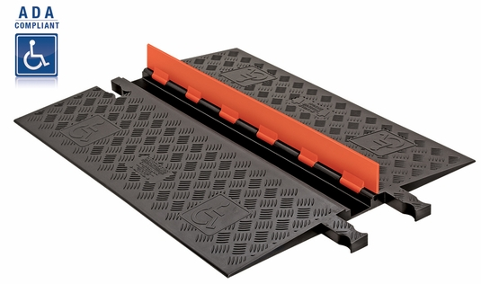 Guard Dog 1-Channel Low Profile Cable Protectors w/ ADA Compliant Ramps