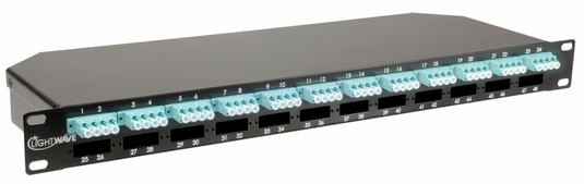 HD MTP/MPO-LC 1RU Elite Cassette, Multimode OM3, 24 Port, 48-Fiber