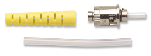 Hot Melt ST Singlemode Connector - Yellow Short Boot