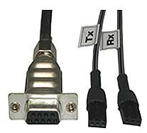 Internal DB09 Female to 2x PTP Cable - 1 Meter