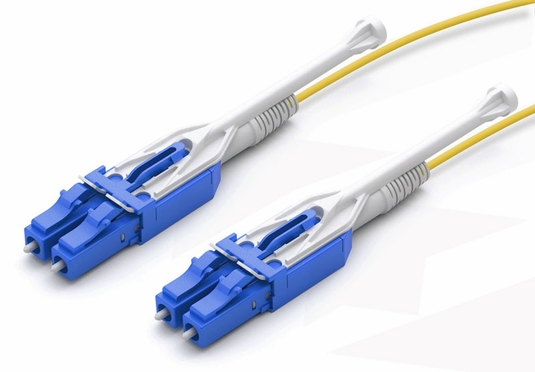 LC-LC Uni-boot Fiber Patch Cable, Singlemode 9/125 OS2, Duplex