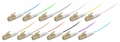 LC/PC Fiber Optic Pigtail, Multimode OM2, Tight Buffer 900um, 12-Pack