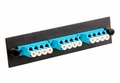 LGX Adapter Panel, Fiber Optic, 12-Fiber, LC Quad, Zirconium Insert, Aqua