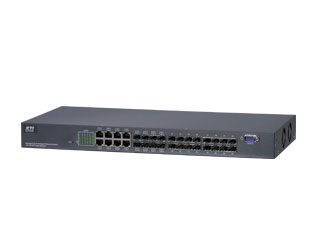 Managed 24-Port Gigabit Ethernet Switch with 24 SFP Fiber Support
