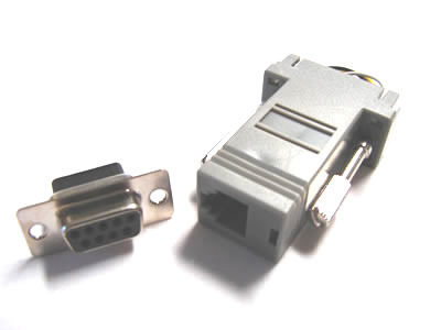 NMA-6209 Modular Adapter, RJ12-DB9 Female