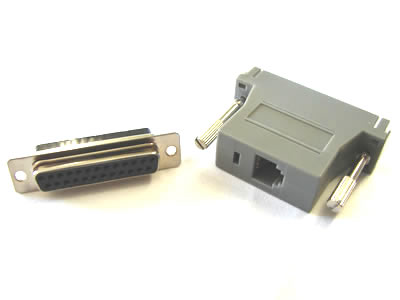 NMA-6609 Modular Adapter, RJ12-DB25 Female