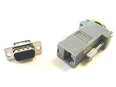 NMA-8109 Modular Adapter, RJ45-DB9 Male