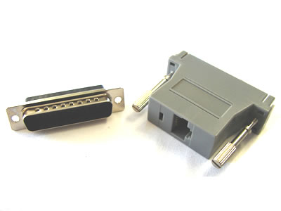 NMA-8509 Modular Adapter, RJ45-DB25 Male