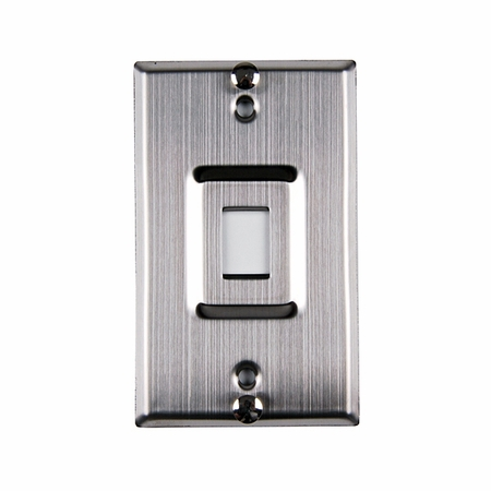 One Port Phone Faceplate - Stainless Steel