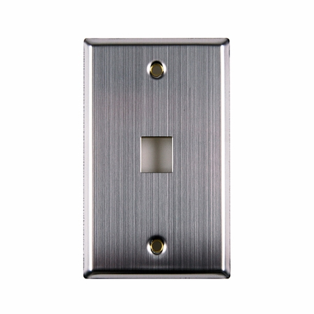 OnePort Flush Mount Faceplate - Stainless Steel