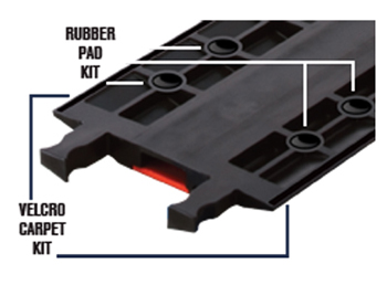 Optional Anti-Slip Rubber Pad Kit (includes 10 rubber pads) for Guard Dog Heavy Duty 5 Channel Cable Protectors
