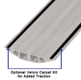 Optional Carpet Kit with VELCRO Brand Fasteners for 10 ft Powerback RFD6 Rubber Duct ProtectorS