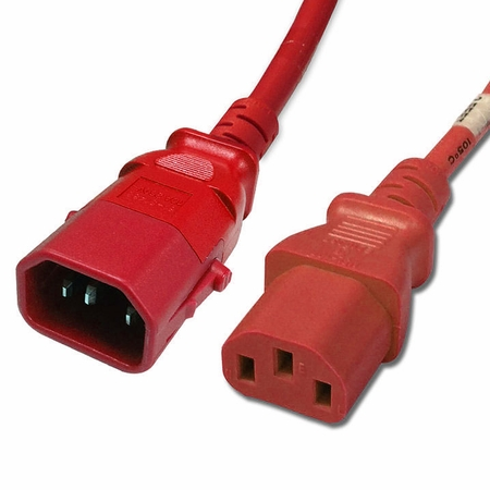 P-Lock 15Amp C14 to C13 2FT - Red Secure Locking Power Cord