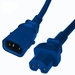 P-Lock 15Amp C14 to C15 1FT - Blue Secure Locking Power Cord