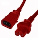 P-Lock 15Amp C14 to C15 1FT - Red Secure Locking Power Cord