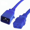 P-Lock 20Amp C20 to C19 3FT - Blue Secure Locking Power Cord