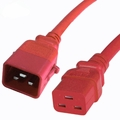 P-Lock 20Amp C20 to C19 3FT - Red Secure Locking Power Cord