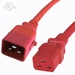 P-Lock 20Amp C20 to C19 5FT - Red Secure Locking Power Cord