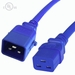 P-Lock C20 to C19 Locking Power Cables - Blue