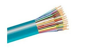 Fiber Optic Cable, 72-Strand, MM OM3, 50/125, Dist., Plenum, 110 FT