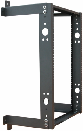 Quest Mfg. Fixed Wall Mount Rack - WR1935-20-02 - 35H X 19W X 20 Rack Mount Space