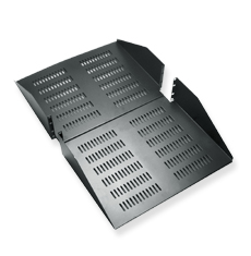 Rack Shelf, 30 Deep, Double, Vented, 3RMS
