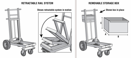 Ramp-Runner Retractable Rail System