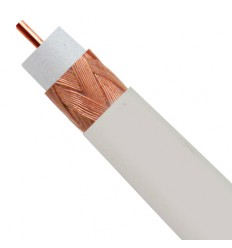RG59 CMR-Rated Coaxial Cable, PVC 3GHz, 40% AL Braid, 1000' Reel