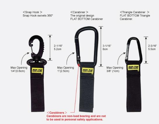 Rip-Tie CableCarrier with Silver Triangle Carabiner