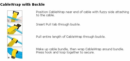 Rip-Tie CableWrap with Buckle, 100-Pack