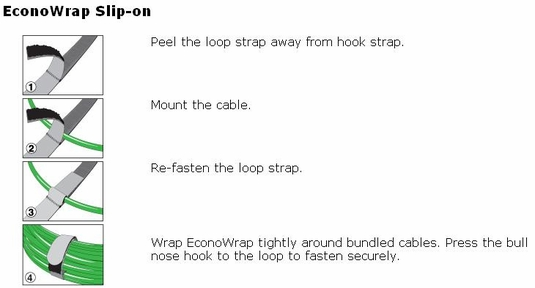 Rip-Tie EconoWrap with Slip-on Attachment, 20-Pack