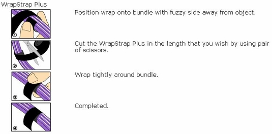 Rip-Tie WrapStrap Plus 75 Foot Rolls, .5 to 1 Widths
