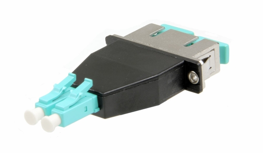 SC-LC Hybrid Duplex Fiber Optic Adapter - Multimode OM3