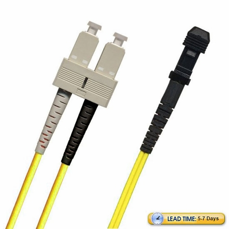 SC-MTRJ Fiber Patch Cable, Multimode 50/125 10 Gig OM3, Duplex
