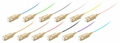 SC/PC Fiber Optic Pigtail, Multimode OM4, Tight Buffer 900um, 12-Pack
