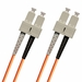 SC-SC Fiber Patch Cable, Multimode 62.5/125 OM1, Duplex