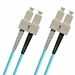 SC-SC Fiber Patch Cable, PC, Multimode 50/125 10 Gig OM4, Duplex