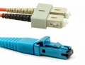 Secure MT-RJ Female to SC, MM OM3 Fiber Patch Cables