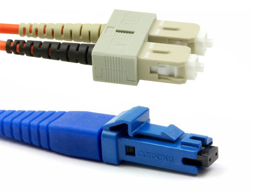 Secure MT-RJ Female to SC, MM OM2 Fiber Patch Cables