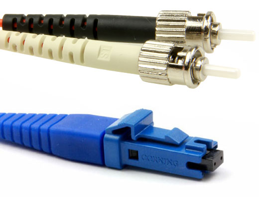Secure MT-RJ Female to ST, MM OM2 Fiber Patch Cables