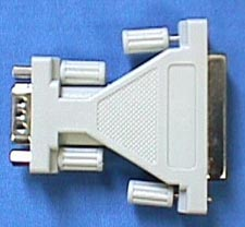 Serial Adapter, DB25 Female - DB9 Female