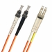 ST-LC Fiber Patch Cable, PC, Multimode 62.5/125 OM1, Duplex