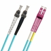 ST-LC Fiber Patch Cable, PC, Multimode 50/125 10 Gig OM4, Duplex