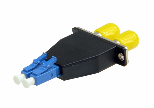 ST-LC Hybrid Duplex Fiber Optic Adapter - Singlemode OS2