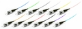 ST/PC Fiber Optic Pigtail, Multimode OM2, Tight Buffer 900um, 12-Pack